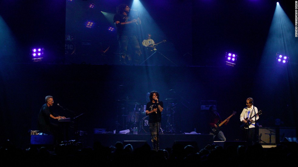 The Doors of the 21st Century perform at the Miller Rock Thru Time Celebrating 50 Years of Rock Concert at Roseland in New York on September 17, 2004. The band was formed by Manzarek and Doors bandmate Robby Krieger in 2002.