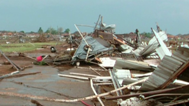 Deadly tornado's destructive path