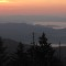 smok mountain sunset