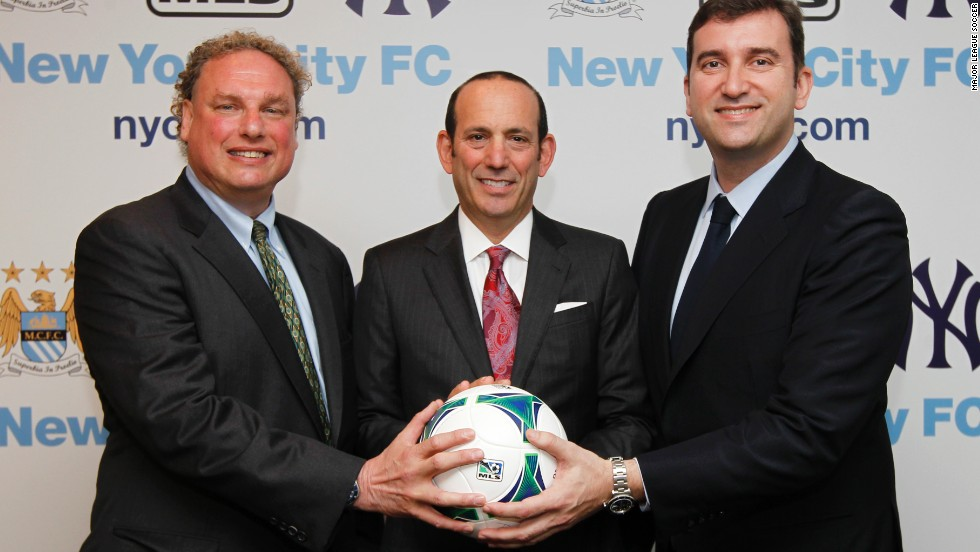 New York Yankees president Randy Levine, MLS chief Don Garber and Manchester City CEO Ferran Soriano revealed the new franchise plans.