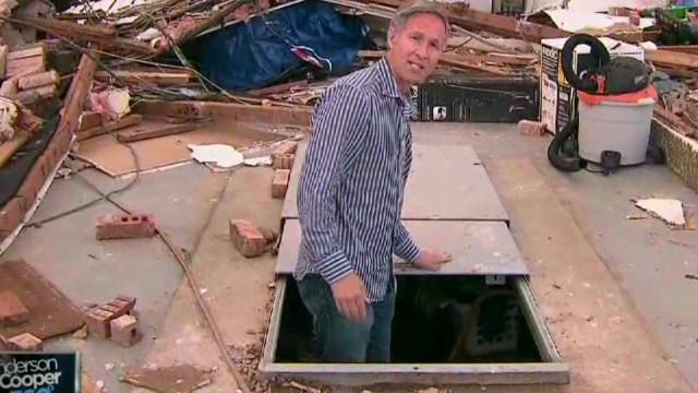 Inside a personal tornado shelter
