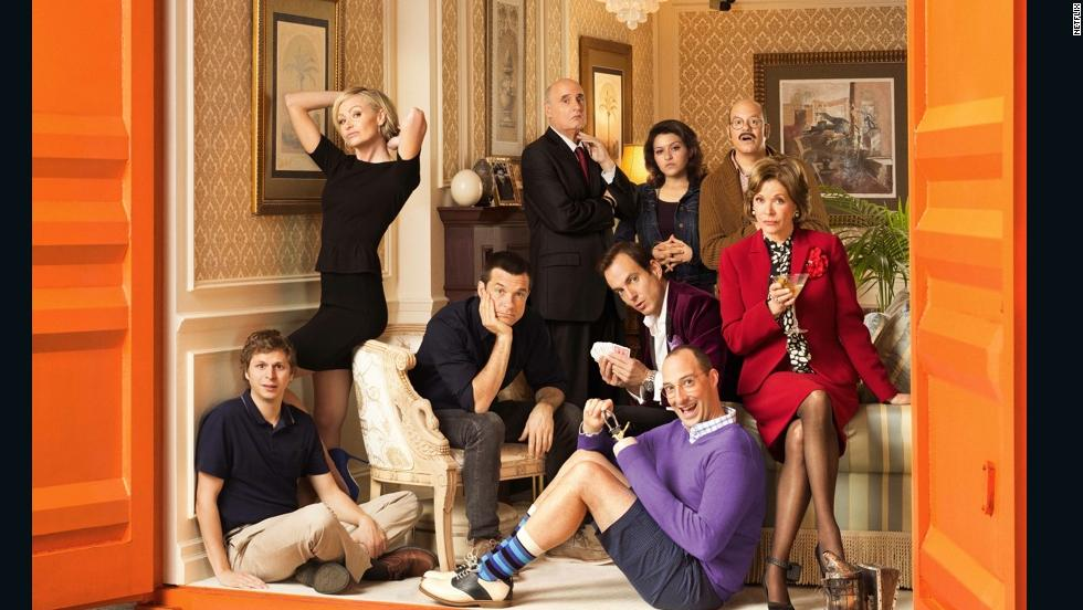 "In the cult TV favorite ""Arrested Development,"" Tony Hale (wearing purple) plays Byron ""Buster"" Bluth, the awkward and smothered son of George Sr. and Lucille Bluth. His home base is Mom's apartment."