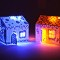 Illuminated houses made with bare paint