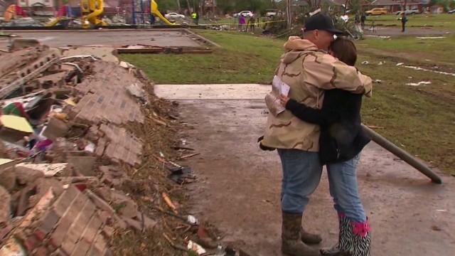 Tornado victims picking up the pieces