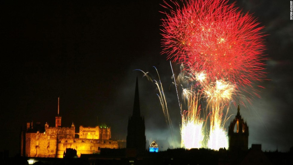 A fireworks show brings the Edinburgh International Festival to a close at Edinburgh Castle in Scotland. Watch this summer's finale on September 1 from the Princes Street Gardens.