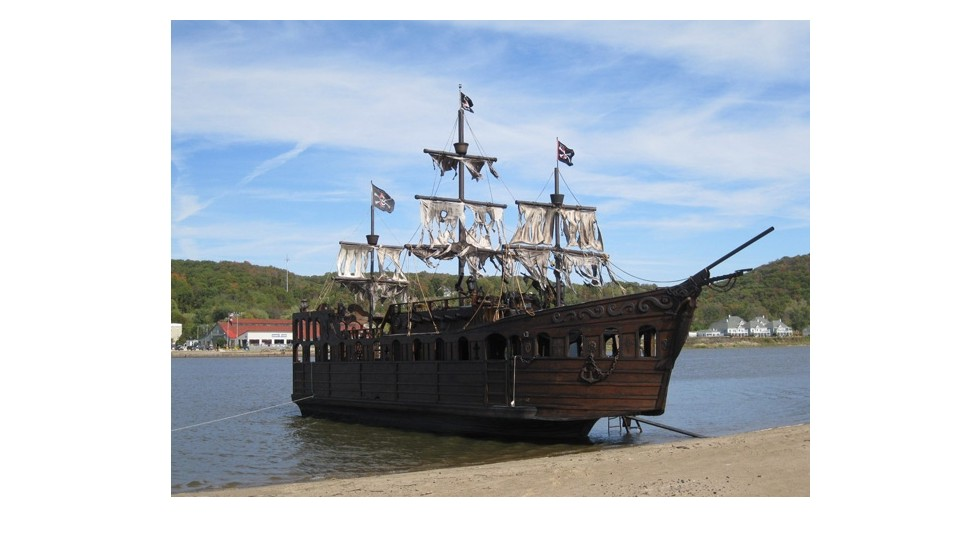 Introducing Gypsy Rose II, a 12-meter pirate ship created by U.S. boat builder, Captain Tim Woodson.
