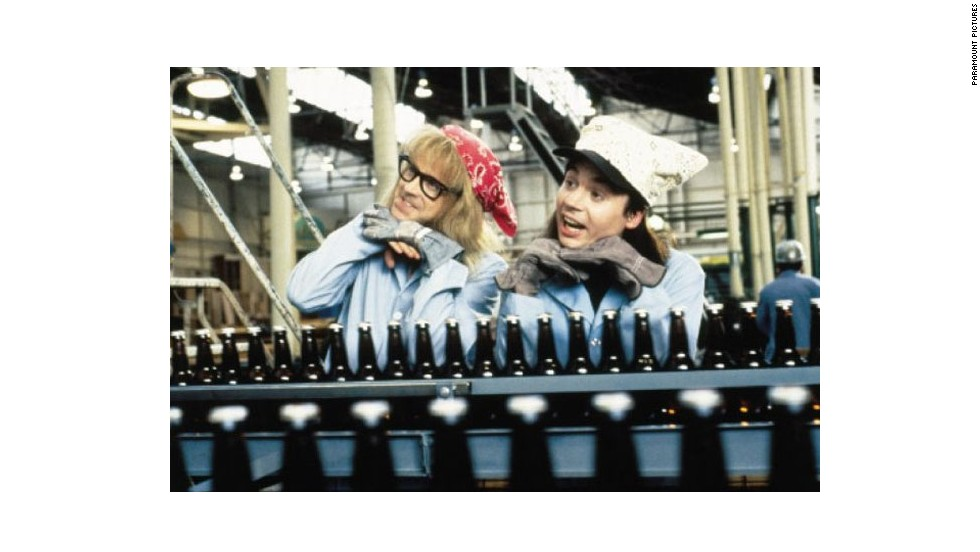 "<strong>""Wayne's World"" (1992)</strong>: Another comedy with roots in ""Saturday Night Live,"" Dana Carvey and Mike Myers influenced a generation -- and generated plenty of catchphrases -- as local public access talk show hosts Garth and Wayne."