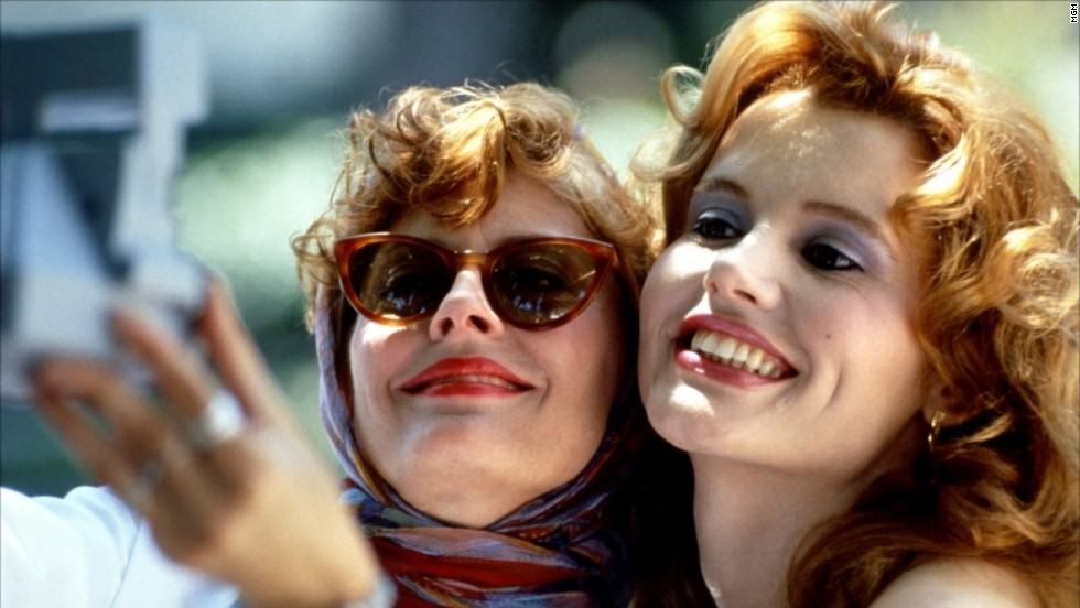 "<strong>""Thelma & Louise""</strong> (1991) starts out as a road trip break from Thelma's (Geena Davis) crummy marriage but turns into a darker escape after Louise (Susan Sarandon) shoots a man when he tries to rape Thelma. <em>Lesson:</em> Don't carry cash; there are thieves everywhere."