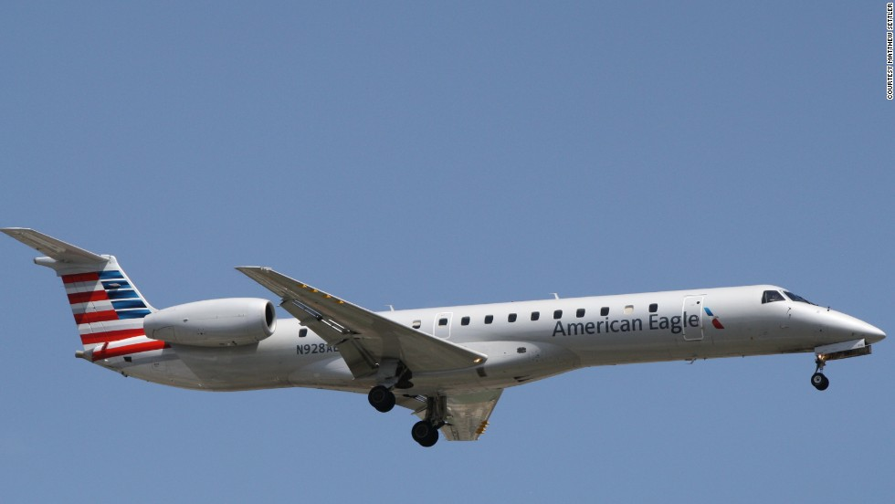 Plane spotter Matt Settler captured this American Eagle regional jet at Chicago's O'Hare International Airport.