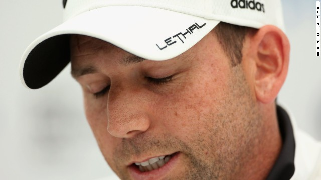 Sergio Garcia has been sponsored by TayorMade-adidas since 2002 but risks losing the deal.