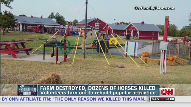 Horse farm hit by tornado