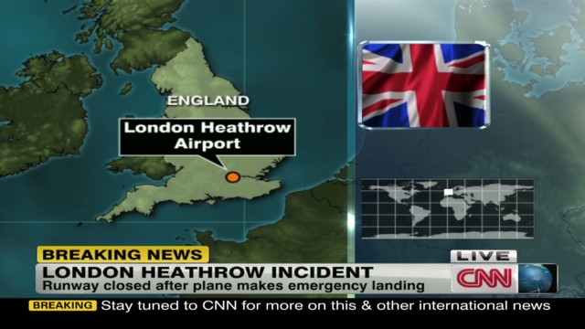 Emergency plane lands at Heathrow
