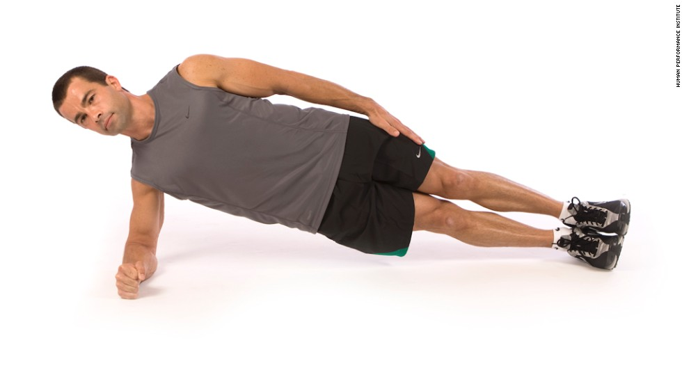 Side plank: Works core