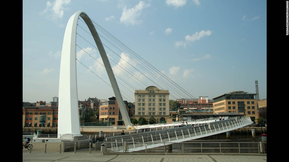 Millennium Bridge, Newcastle, England.