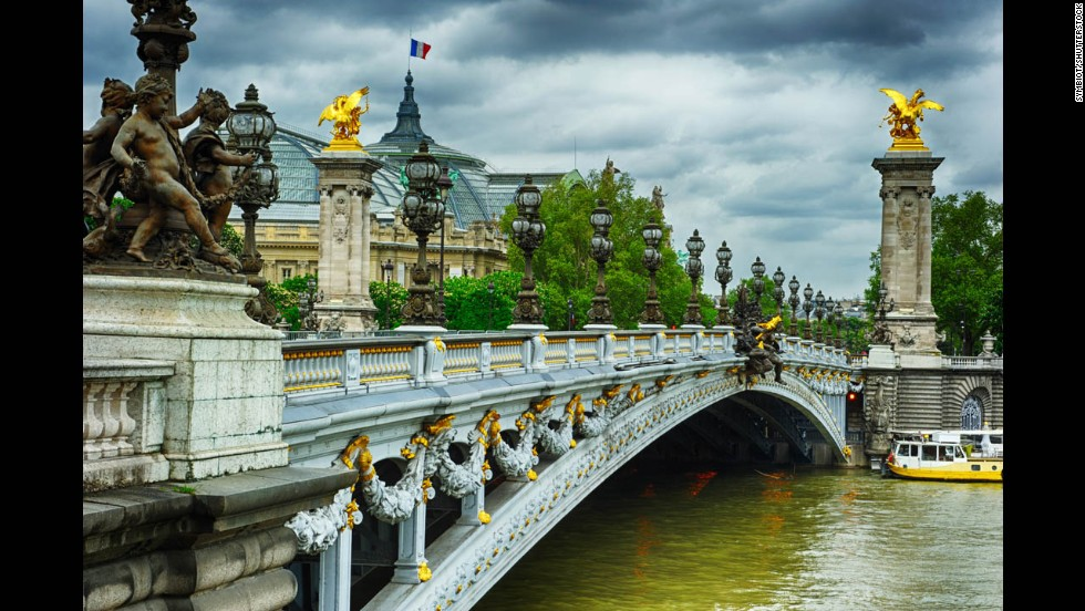 Pont Alexandre III, Paris, France.