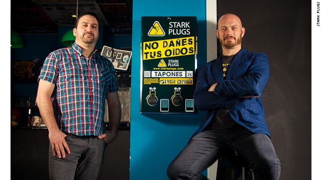 Marco Torremocha  and Phil Stark are beating Spain's economic crisis by selling ear plugs