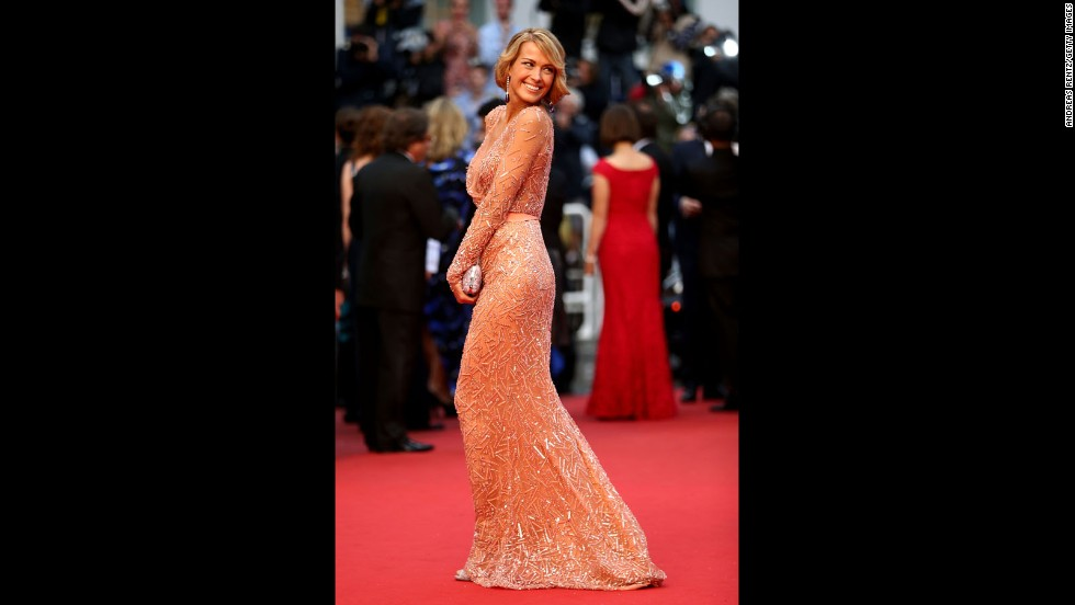 "Petra Nemcova attends the Cannes premiere of ""All Is Lost"" on May 22."