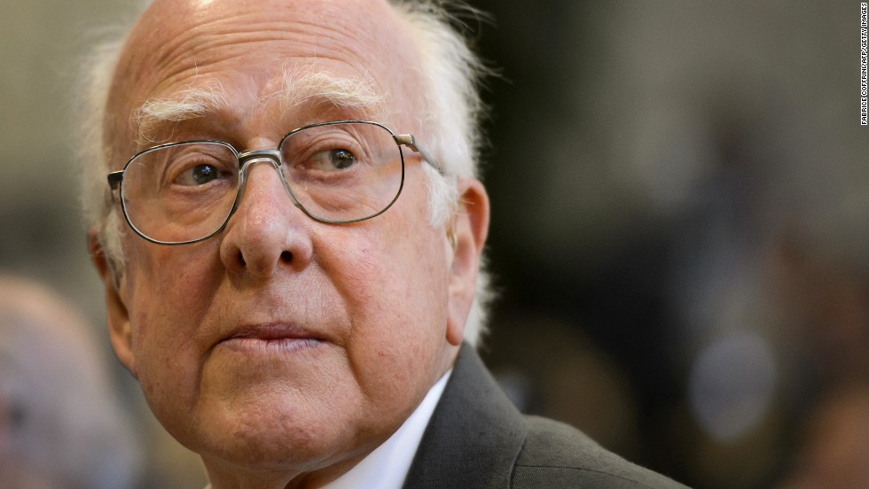 "British physicist Peter Higgs is among those credited with the theory behind the Higgs boson, a subatomic particle long thought to be a fundamental building block of the universe. <a href=""http://www.bbc.co.uk/news/uk-scotland-22073084"" target=""_blank"">In an interview with the BBC</a>, he expressed his discomfort with people calling it the ""God particle."" He said, ""First of all, I'm an atheist. The second thing is I know that name (started as) a kind of joke and not a very good one. ... It's so misleading."""