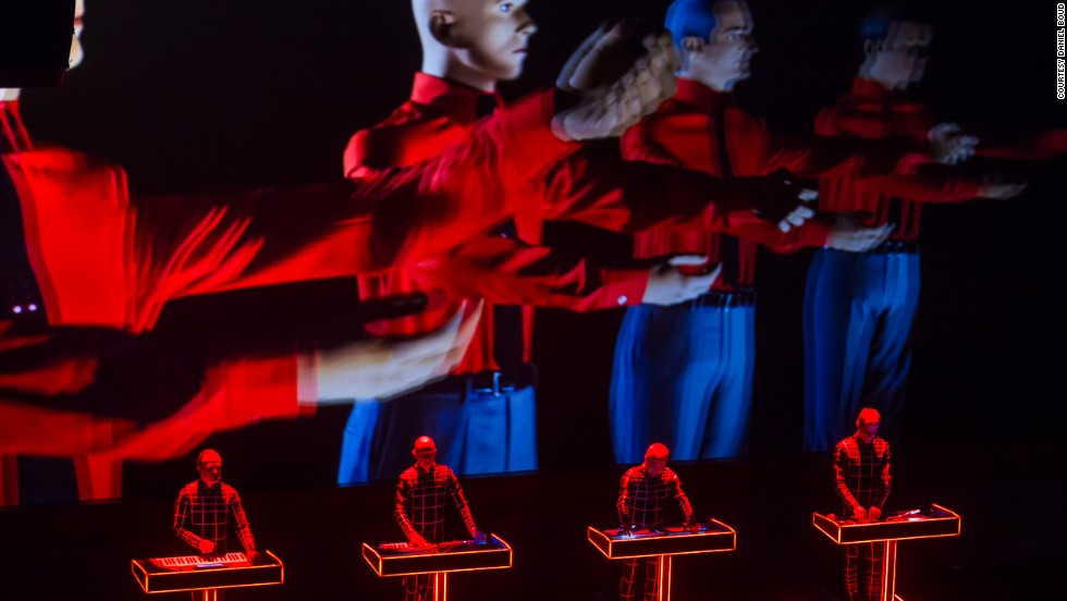 As well as guys in their 60s wearing jumpsuits, the Kraftwerk show came with 3-D effects.