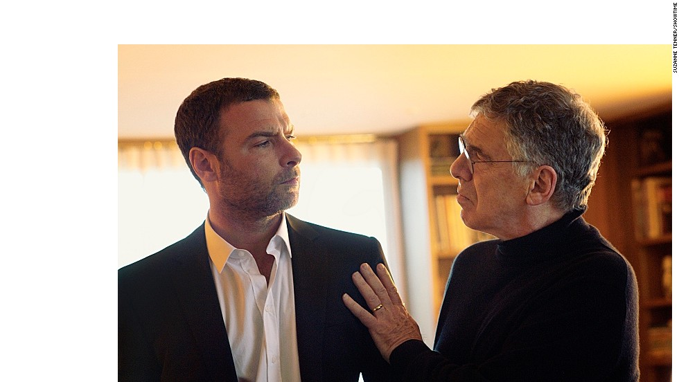 "Liev Schreiber stars as Ray Donovan and Elliott Gould as Ezra Goodman in the new series ""Ray Donovan."""
