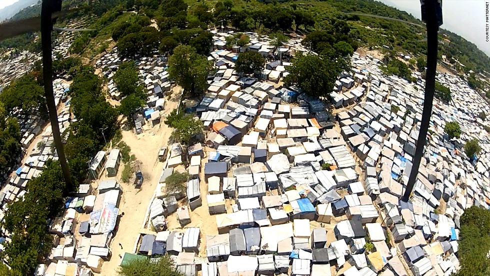 The view from a Matternet UAV high above the Caribbean nation of Haiti. Areas suffering the effects of natural disasters or where existing road networks have been knocked out could benefit from drone delivery systems, the company says.