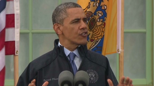 President Barack Obama touts New Jersey's recovery from Superstorm Sandy.