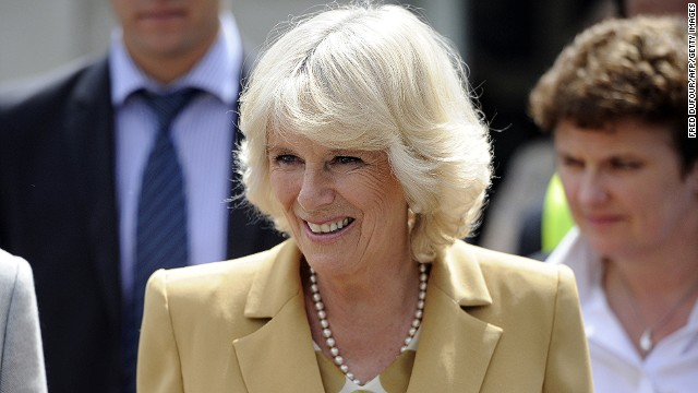 Camilla, Duchess of Cornwall visits the French charity association Emmaus second-hand store as the association's leading patron on May 27, 2013 in Bougival, west of Paris.
