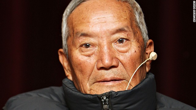 Min Bahadur Sherchan in a file pic from 2009 when he became the oldest man to climb Mt Everest.