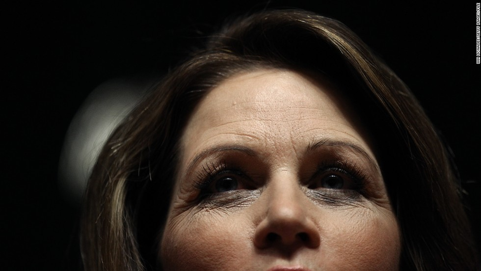 Bachmann addresses a town hall-style meeting in Des Moines, Iowa, in December 2011. By then, her presidential campaign had begun to lose steam to other conservative candidates.