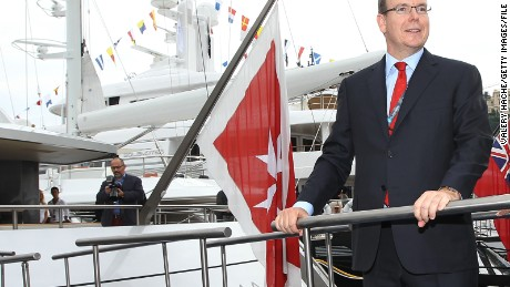 Prince Albert II of Monaco visits the International Monaco Yacht Show on September 24, 2010 at Port Hercules in the principalty of Monaco. A selection of 100 exceptional super and mega-yachts from 25 to over 90 m long is presented until September 25, 2010. AFP PHOTO VALERY HACHE (Photo credit should read VALERY HACHE/AFP/Getty Images)