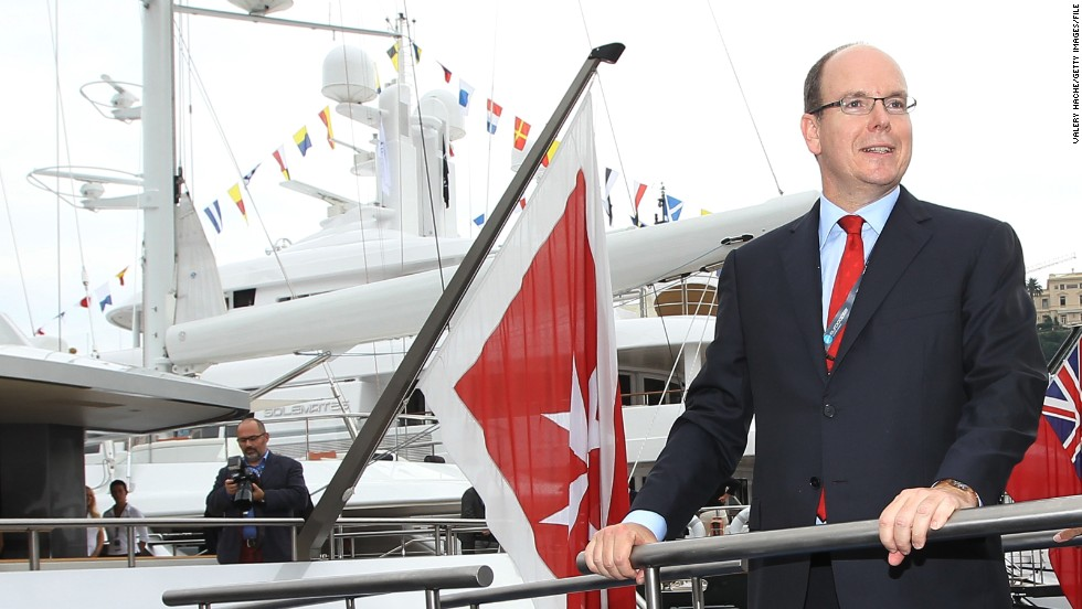 Prince Albert II of Monaco has continued his father's love of yachts. Though these days they come a lot bigger, with the nation state playing host to the annual Monaco yacht show -- featuring the biggest superyachts in the world.