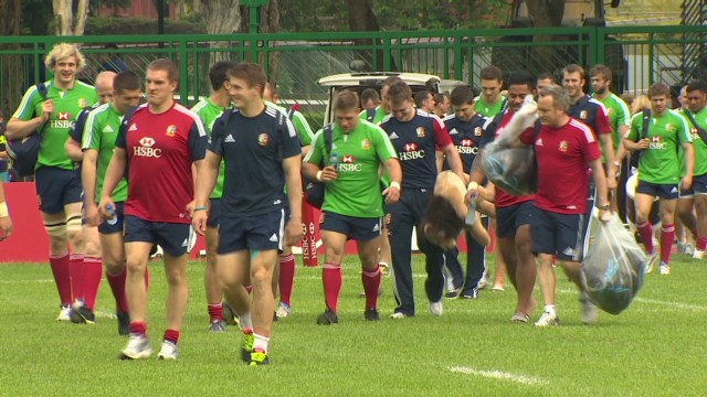 The big cats come out to play as the Lions begin training