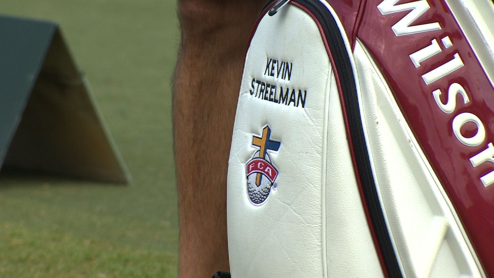 Kevin Streelman is fiercely proud of his faith and has the Crucifix embroidered on his golf bag.