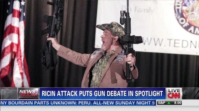Ricin attack triggers gun debate