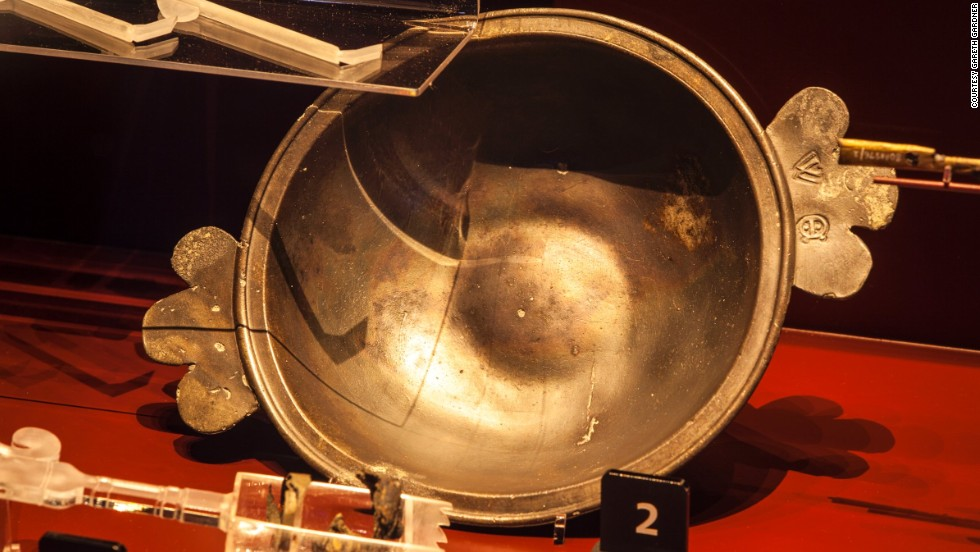 The ship's barber surgeon used this bowl, along with a lancet, to drain blood when diagnosing illnesses onboard. The bowl was found in his cabin toward the stern of the ship. Pewter was a relatively expensive metal in the 16th century, signifying the barber surgeon's high status.