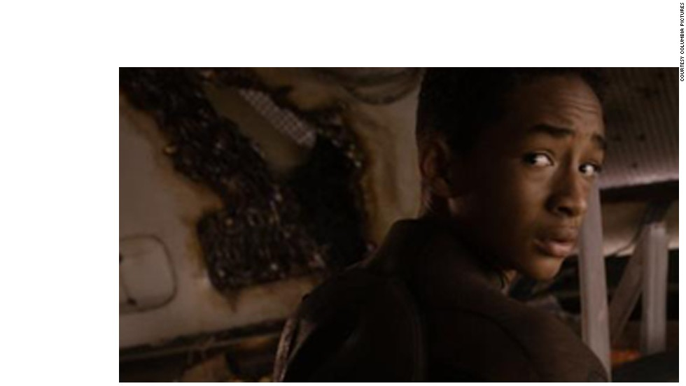 "You never just walk up on the bad thing. The bad thing is ALWAYS behind you, as Jaden Smith displays in ""After Earth."""