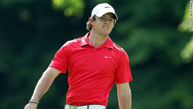 Rory McIlroy hit a number of wayward shots during his opening round of 78 at the Memorial in Ohio.