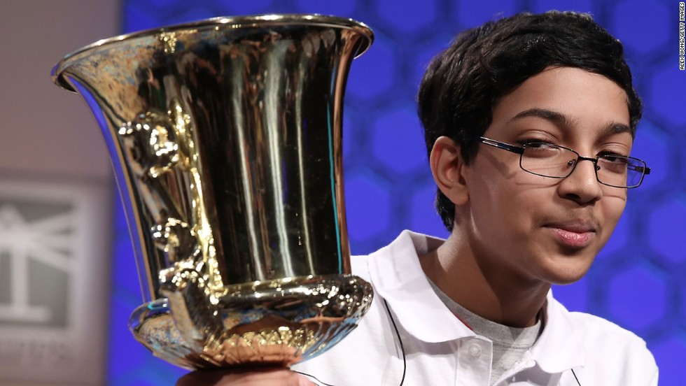 """Arvind Mahankali won the 2013 Scripps National Spelling Bee after spelling """"knaidel,"""" which is a dumpling. Click through to see the rest of the winners from the past 15 years. The definitions of their winning words are from the Merriam-Webster dictionary."""