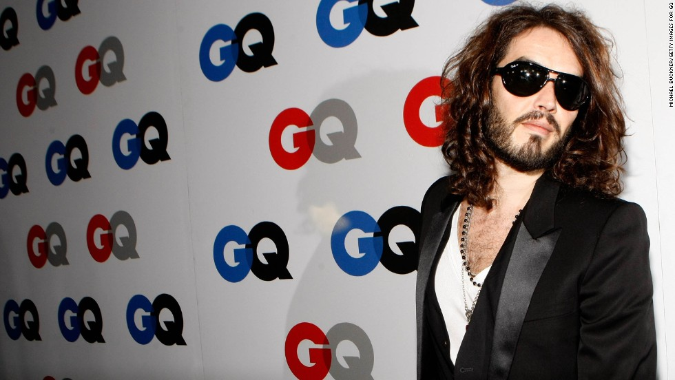 Russell Brand arrives at the GQ Men of the Year party on November 18, 2008, in Los Angeles.