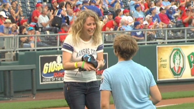 She didn't expect this after first pitch