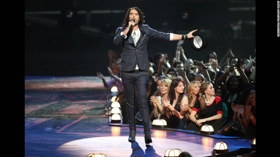 Brand hosts the MTV Video Music Awards at Radio City Music Hall on September 13, 2009, in New York.