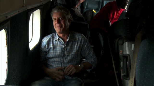 Bourdain travels in Congo