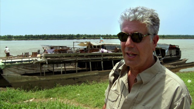 Boat ride is Bourdain's dream come true