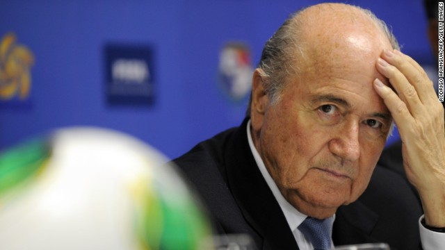 "FIFA president Sepp Blatter said ""despicable events"" cast a ""long shadow"" on soccer this year."