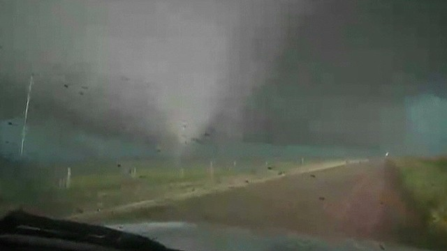 Watch as tornado nears ground in OK