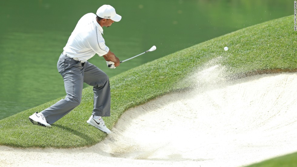 Starting on the back nine, he double-bogeyed the par-three 12th hole after finding the sand trap. Woods matched that at 15, dropped another shot at 17 and suffered a triple at the par-four 18th.