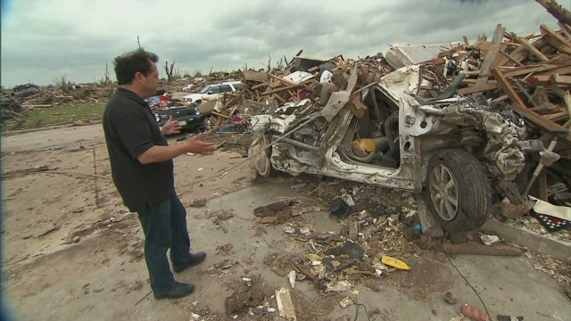Tornado left vast amounts of debris