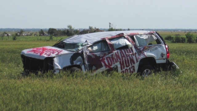 Storm chasers among the storm victims