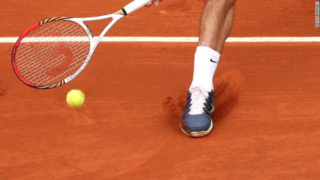 Secrets below Roger Federer's feet