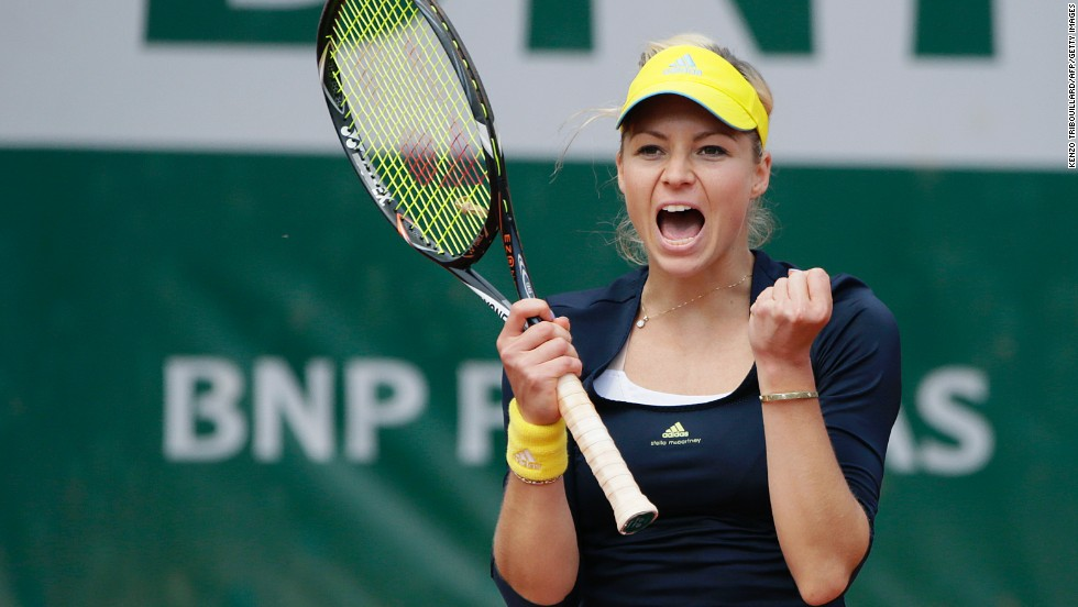 Kirilenko celebrates after beating Mattek-Sands on June 3.  Kirilenko defeated Mattek-Sands 7-5, 6-4.
